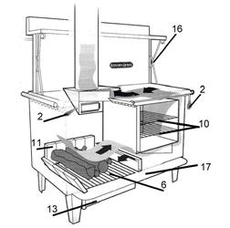 kitchen queen 480 wood cookstove ash lip. Black Bedroom Furniture Sets. Home Design Ideas